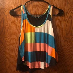 Baggy Multi-Colored Crop Top